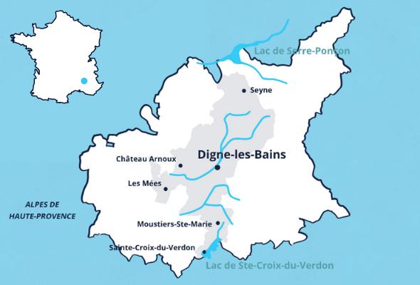 Accès à Digne-les-Bains