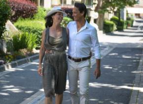 Couple de curistes - Thermes de Digne-les-Bains